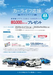 ポイント トヨタ カード トヨタTSキュービックカードなら車購入時にポイントを充当できる